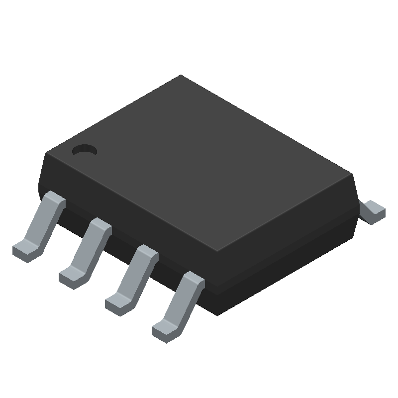 LM358DR2G - ON Semiconductor  - 3D model - Small Outline Packages - SOIC-8